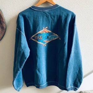 ESPO'S surf shop crewneck sweatshirt L Hamptons